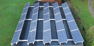 Self-installed solar panels on our friend's house