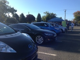 Exhibiting Club Members' Electric Cars in Victoria BC...